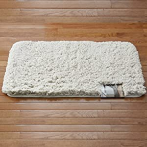 Home Dynamix Ultra Soft High Pile Plush Bath Mat/Rug: 21in x 34in, Non-Slip (Light Gray)