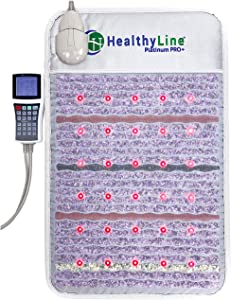 HealthyLine Platinum Mat – Revolutionary Amethyst Far Infrared Heating Pad with Advanced Multi-Wave Magnetic Pulses, Negative Ion and Photon Therapy for Muscle, Joint, Sciatica Arthritis Pain Relief
