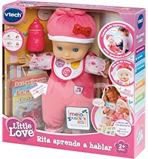 Vtech - Muñeca interactiva, Little Love, rita aprende a hablar (3480-153922