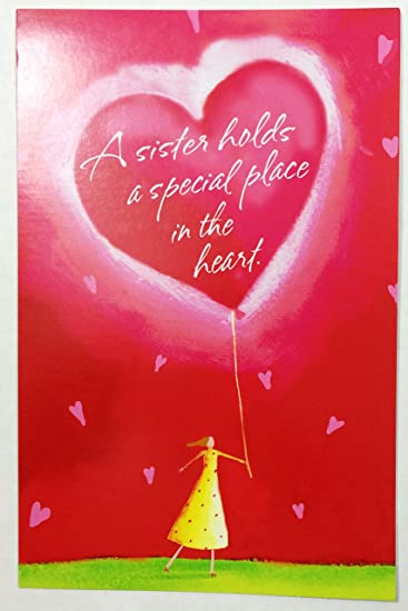 Amazon valentine card for sistera sister holds a special valentine card for sistera sister holds a special place in the heart m4hsunfo