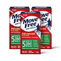Glucosamine & Chondroitin Plus MSM Advanced Joint Health Supplement Tablets, Move Free (120 Count in A Box) (12 Pack Case), Supports Mobility, Flexibility, Strength, Lubrication and Comfort*