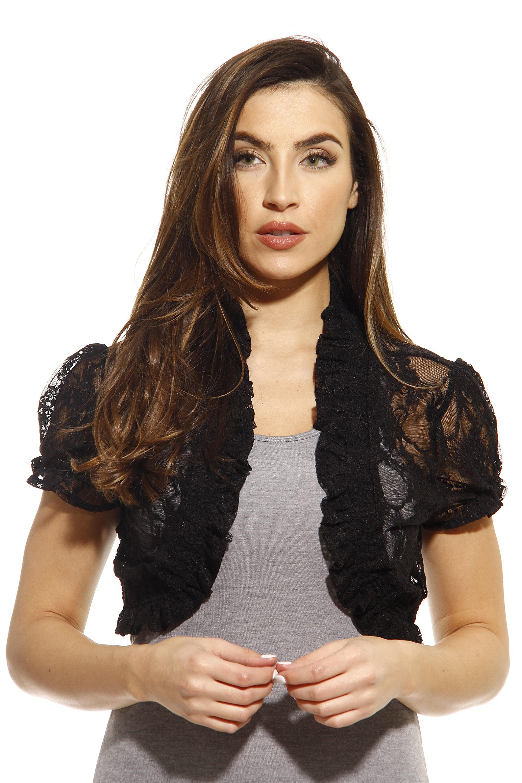 Just Love 2502-Blk-M Shrug/Shrugs/Women Cardigan