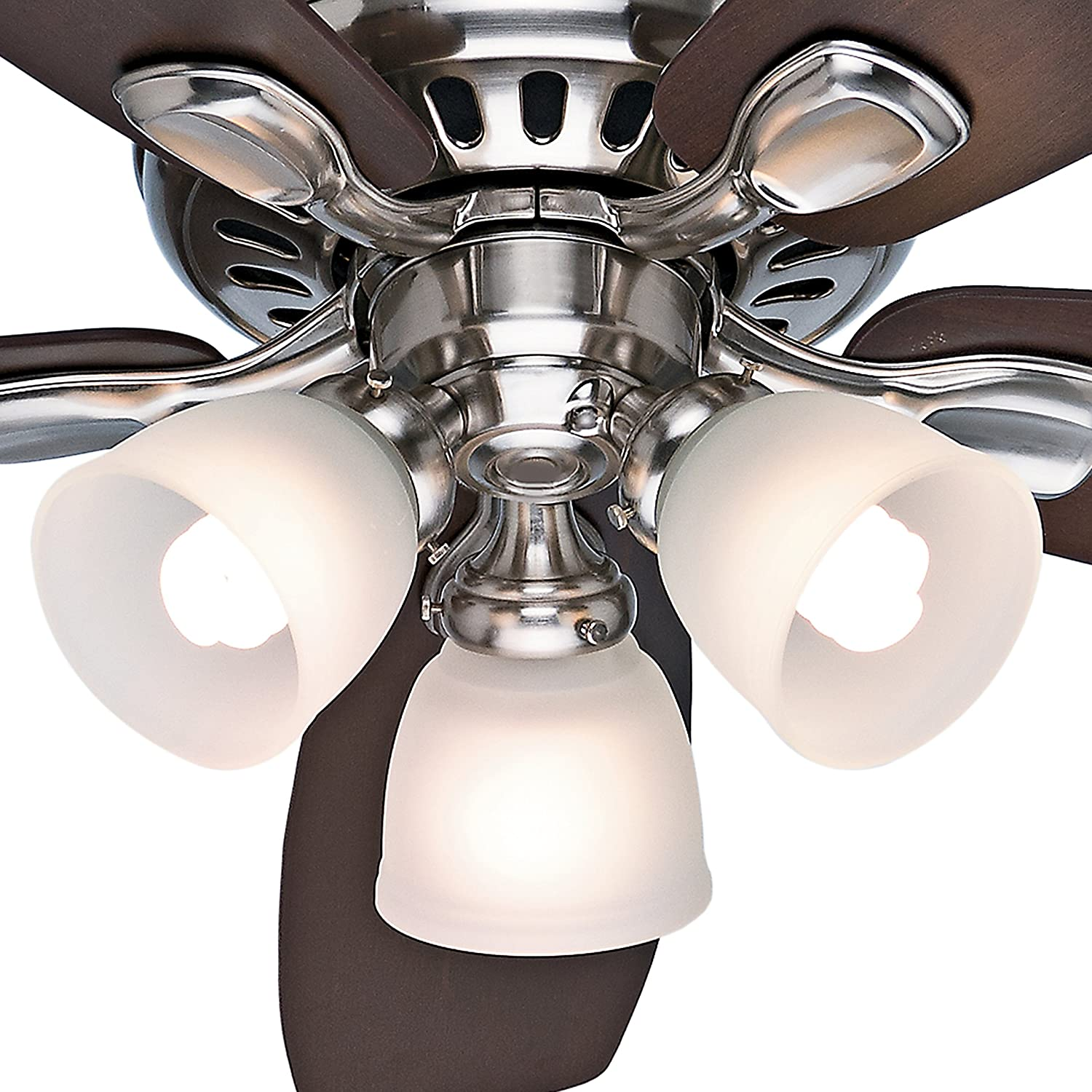 "Hunter Fan 52"" Brushed Nickel Ceiling Fan with Light Kit and"