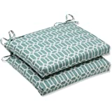 Pillow Perfect Outdoor Rhodes Quartz Squared Corners Seat Cushion, Set of 2