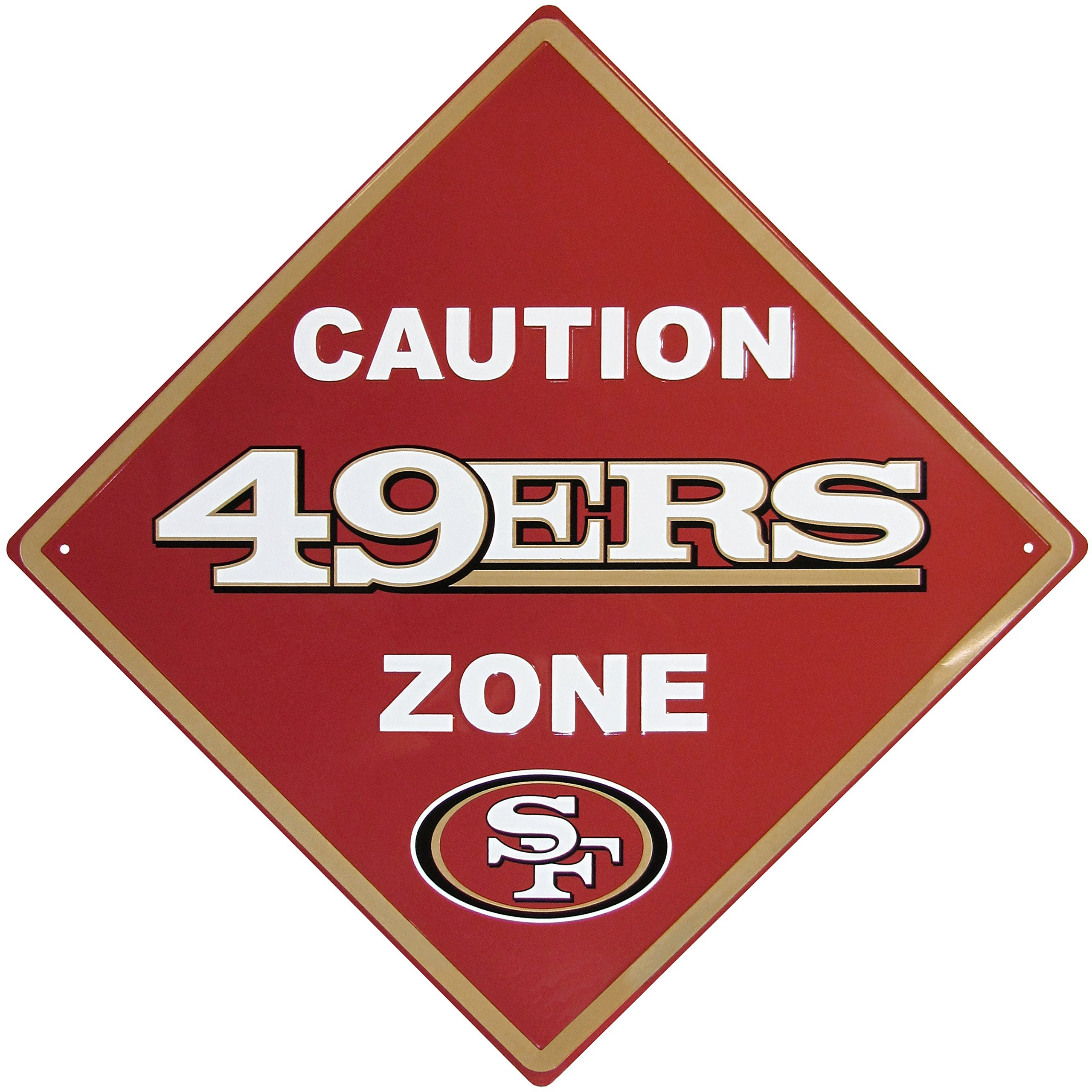 NFL San Francisco 49Ers Caution Wall Sign Plaque, 14'' by Siskiyou