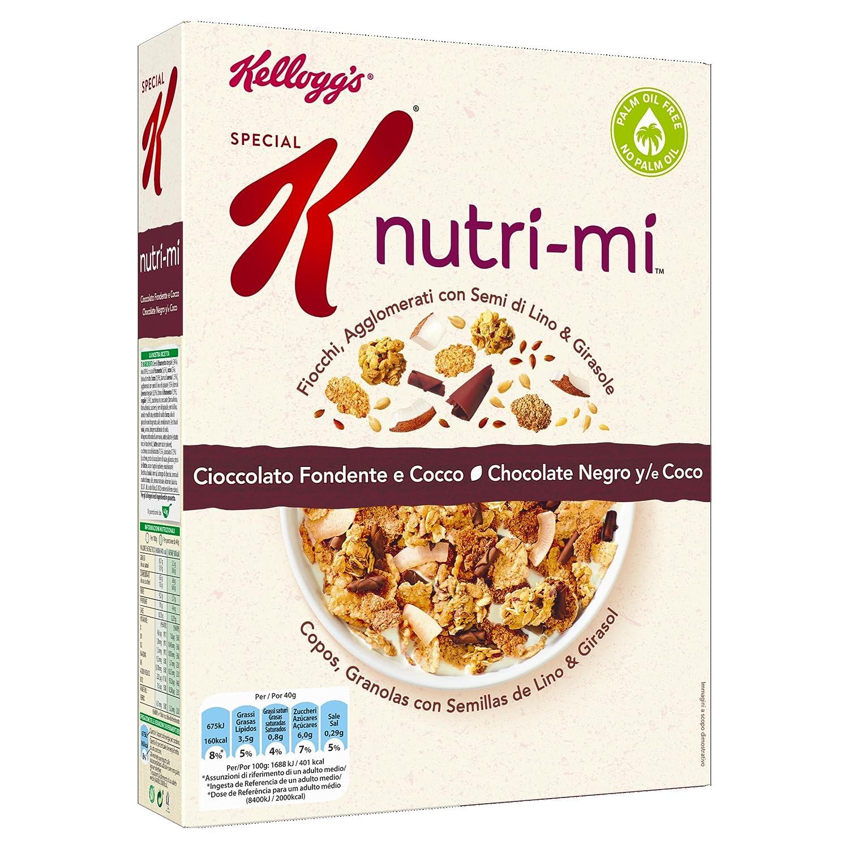 Kelloggs Cereales Special K Nutri-Mi Chocolate Negro y Coco - 2 Paquetes de 330 gr - Total: 660 gr: Amazon.es: Alimentación y bebidas