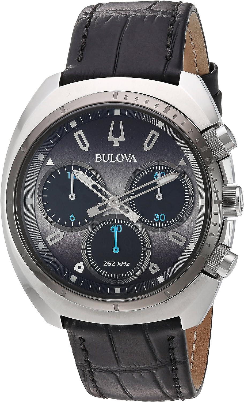 Bulova Reloj Cronógrafo para Hombre de Cuarzo con Correa en Cuero 98A155