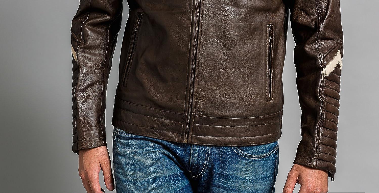 Ontorio Marr/ón Urban Leather UR-333 Simon Chaqueta de Caballero tama/ño L