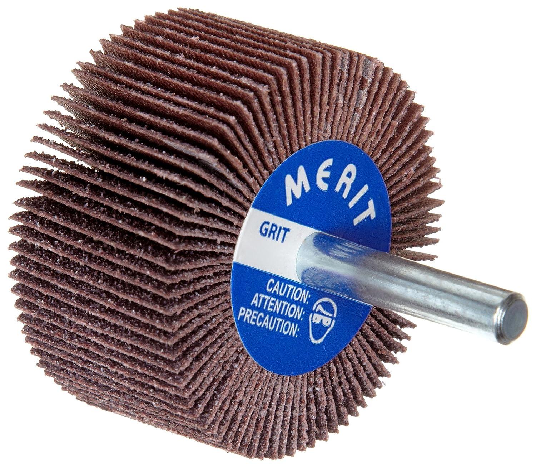 2-1//2 Dia. 20000 Max RPM Grit 60 Round Shank Ceramic Aluminum Oxide Merit High Performance Mandrel-Mounted Mini Grind-O-Flex Abrasive Flap Wheel 1-1//2 Face Width Pack of 10