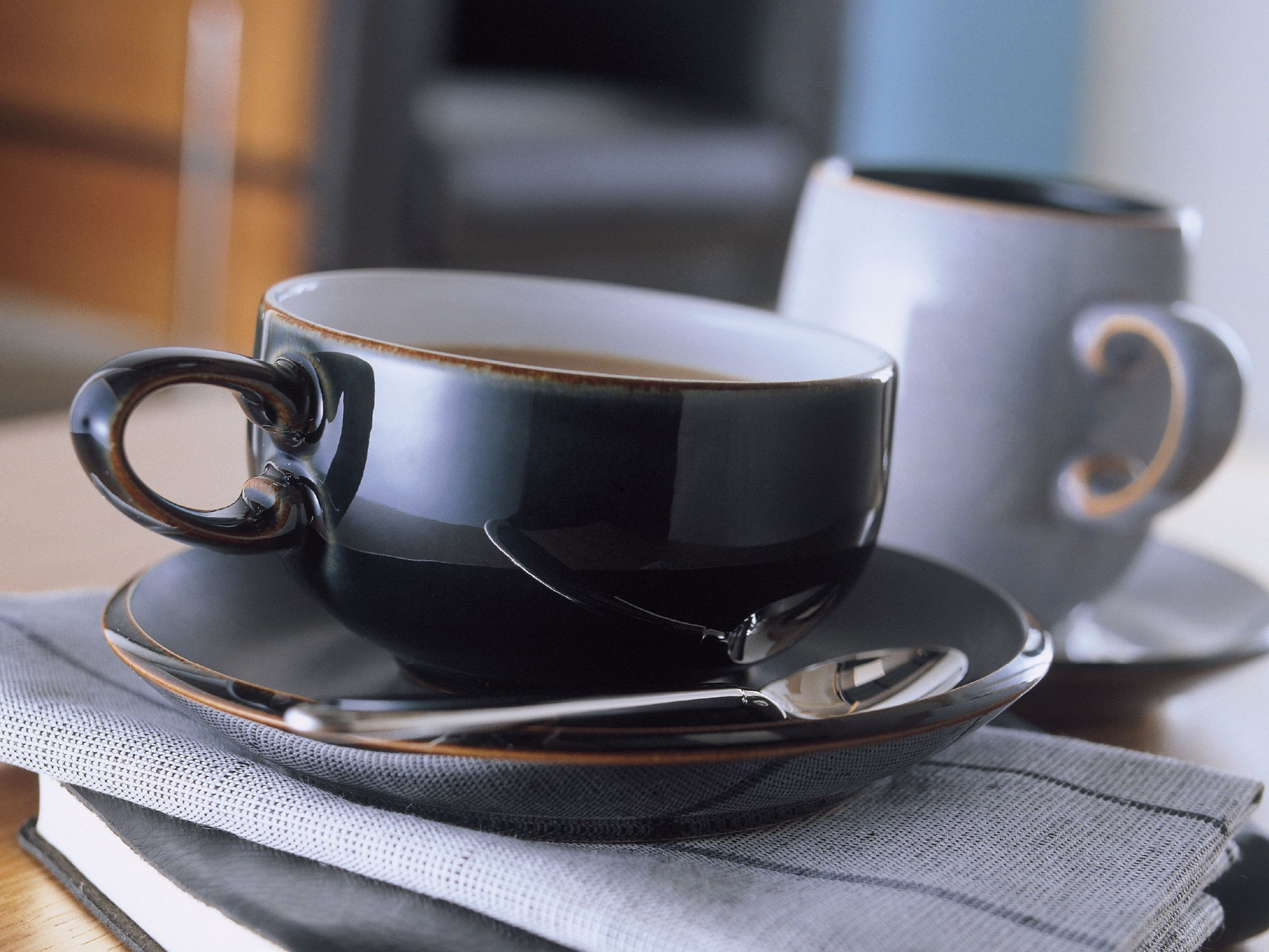 Denby Jet Black Tea Saucer