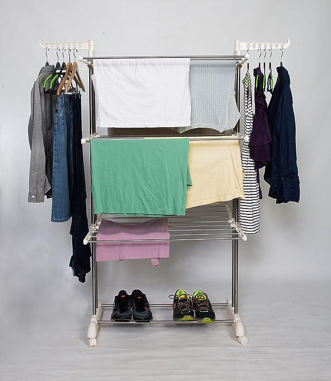 Amazoncom idee Freestanding Collapsible Height Adjustable Rack Rolling