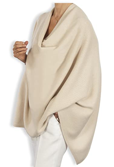 af109f7d2 Pure Cashmere Poncho - 060 Ivory by Catherine Robinson: Amazon.co.uk:  Clothing