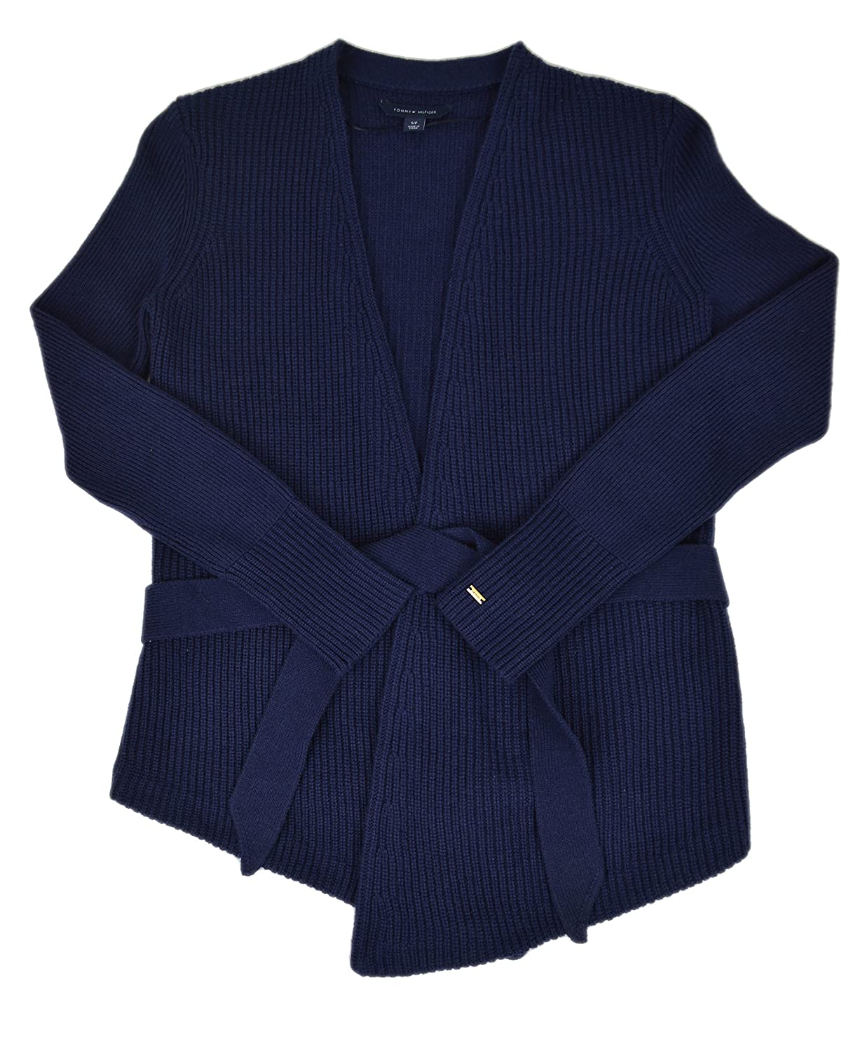Tommy Hilfiger Belted Open-front Cardigan Peacoat Small