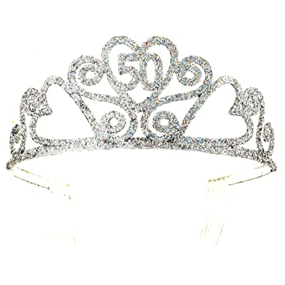 Forum Novelties 50th Birthday Glitter Tiara: Toys & Games