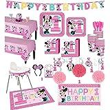 Snack Pack BirthdayExpress SG/_B01N4G2LS7/_US Disney Minnie Mouse 1st Birthday Party Supplies