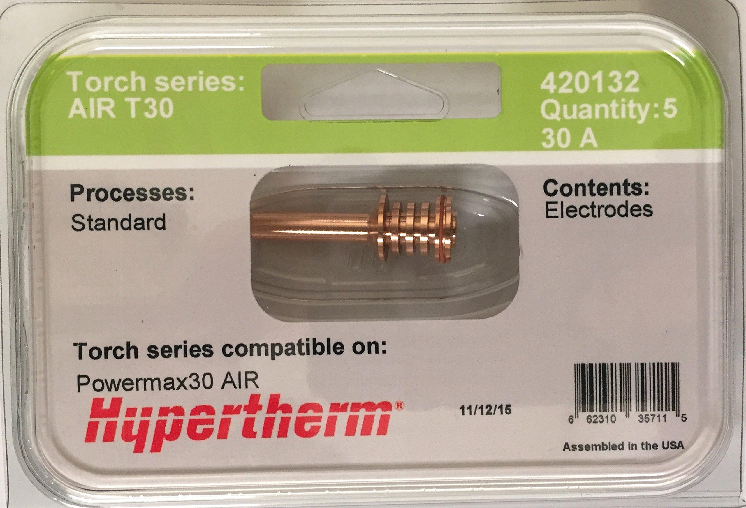 Hypertherm Powermax 30 Air 420132 Electrodes - 5 Pack