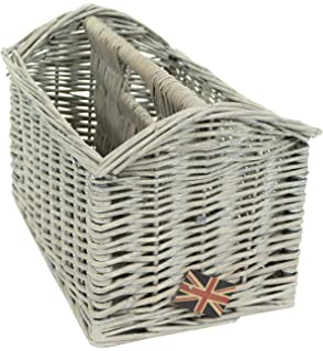 Perfect East2eden Vintage Retro Wicker Magazine Newspaper Holder Rack Stand Storage  Basket (Driftwood) Amazing Design