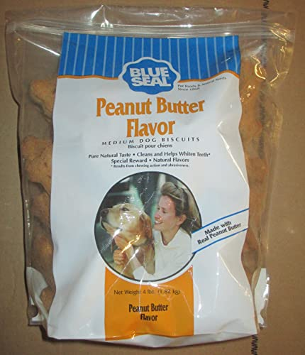Kent Nutrition Blue Seal 4 Lb. Peanut Butter Medium Dog Biscuits by Unknown