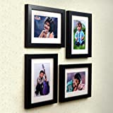Ajanta Royal Classic Set of 4 Individual Photo Frames (4-6x8 Inch) : A-79A (Black)