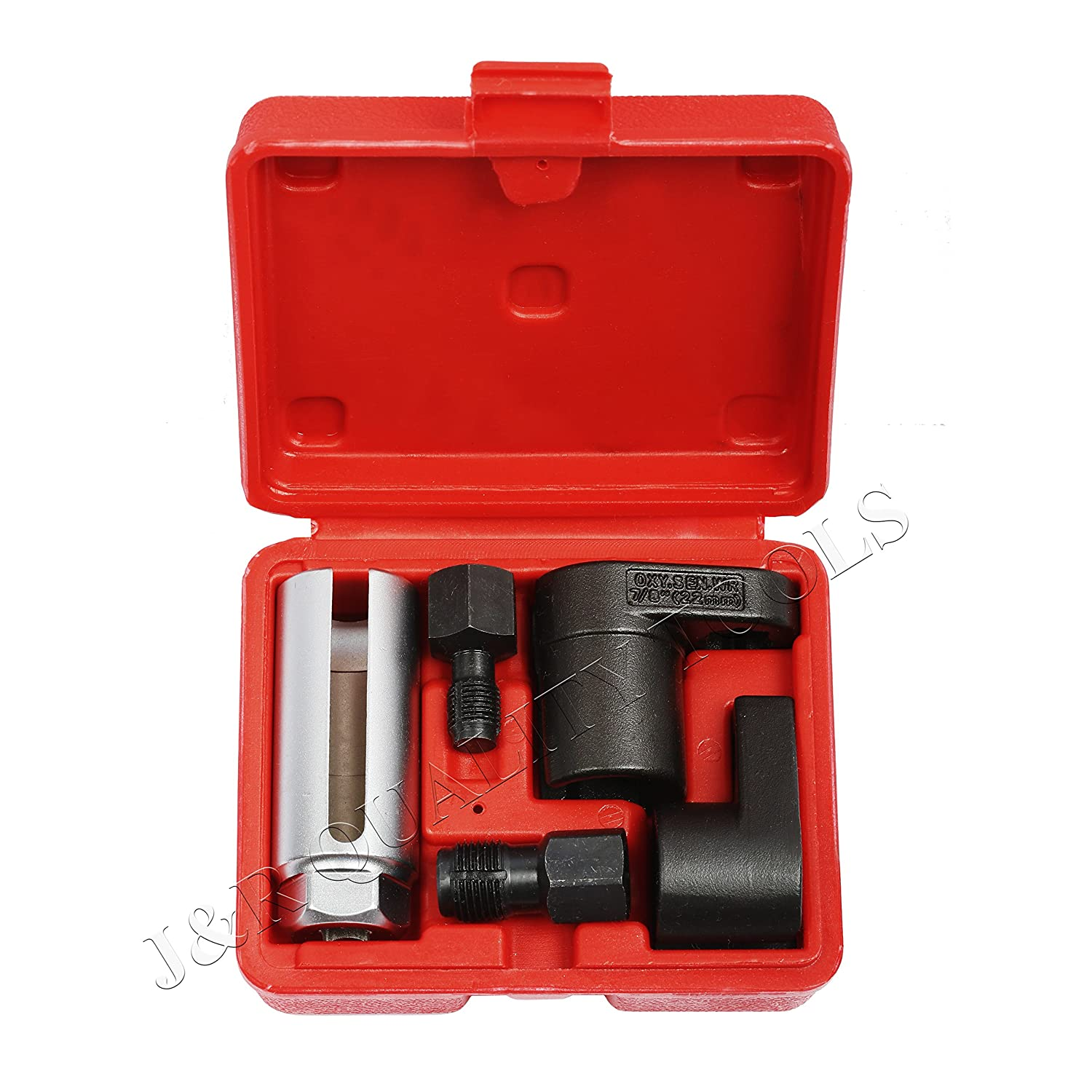 5Pc Set Oxygen Sensor Socket Wrench and Thread Chaser Set J/&R Quality Tools