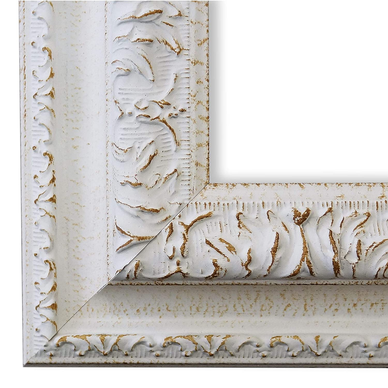 Online Galerie Bingold Bilderrahmen Rom Weiß 6,5 - LR - Din A3 (29,7 x 42,0 cm) - wählen Sie aus über 500 Varianten - Alle Größen - Landhaus, Antik, Barock - Fotorahmen Urkundenrahmen Posterrahmen