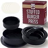 Pressa per Hamburger Set 3 in 1 - 2 Dimensioni + Stampo per Burger Farciti