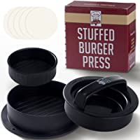 Twisted Chef Pressa per Hamburger Set 3 in 1-2 Dimensioni + Stampo per Burger Farciti