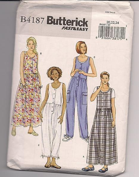 Butterick B4187 Vintage Plus Size Sewing Pattern Womans Dropwaist