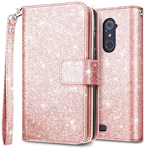 United For Zte Max Xl Blade Glitter Wallet Phone Case Hybrid Extra Pocket Stand Purse Customers First Cell Phones & Accessories