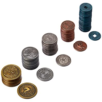 Stonemaier Games Scythe Metal Coins Board Game Addon, Accessory: Toys & Games