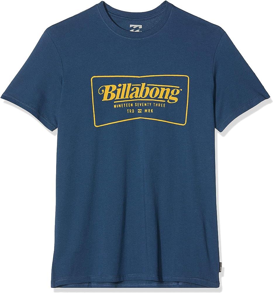 BILLABONG TRD Mrk SS tee Camiseta, Hombre, Dark Blue, One Size (Tamaño del Fabricante: S): Billabong: Amazon.es: Deportes y aire libre