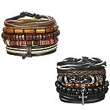 Amazon Price History for:Udalyn 4-9Pcs Leather Bracelet Set Wooden Beads Bracelets Adjustable Bangle Wristband For Men Women