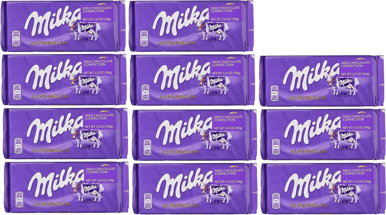 Amazon.com : World's Best Milka Chocolate Alpine Milk (Pack of 10+ ...