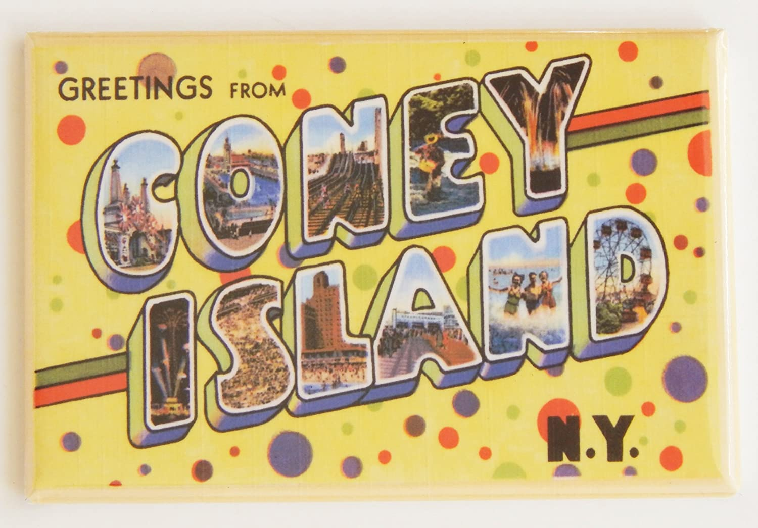 Amazon Greetings From Coney Island Fridge Magnet 2 X 3 Inches
