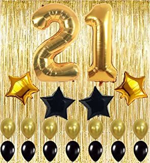 KUNGYO 21st Birthday Party Decorations Kit Happy Birthday Balloon