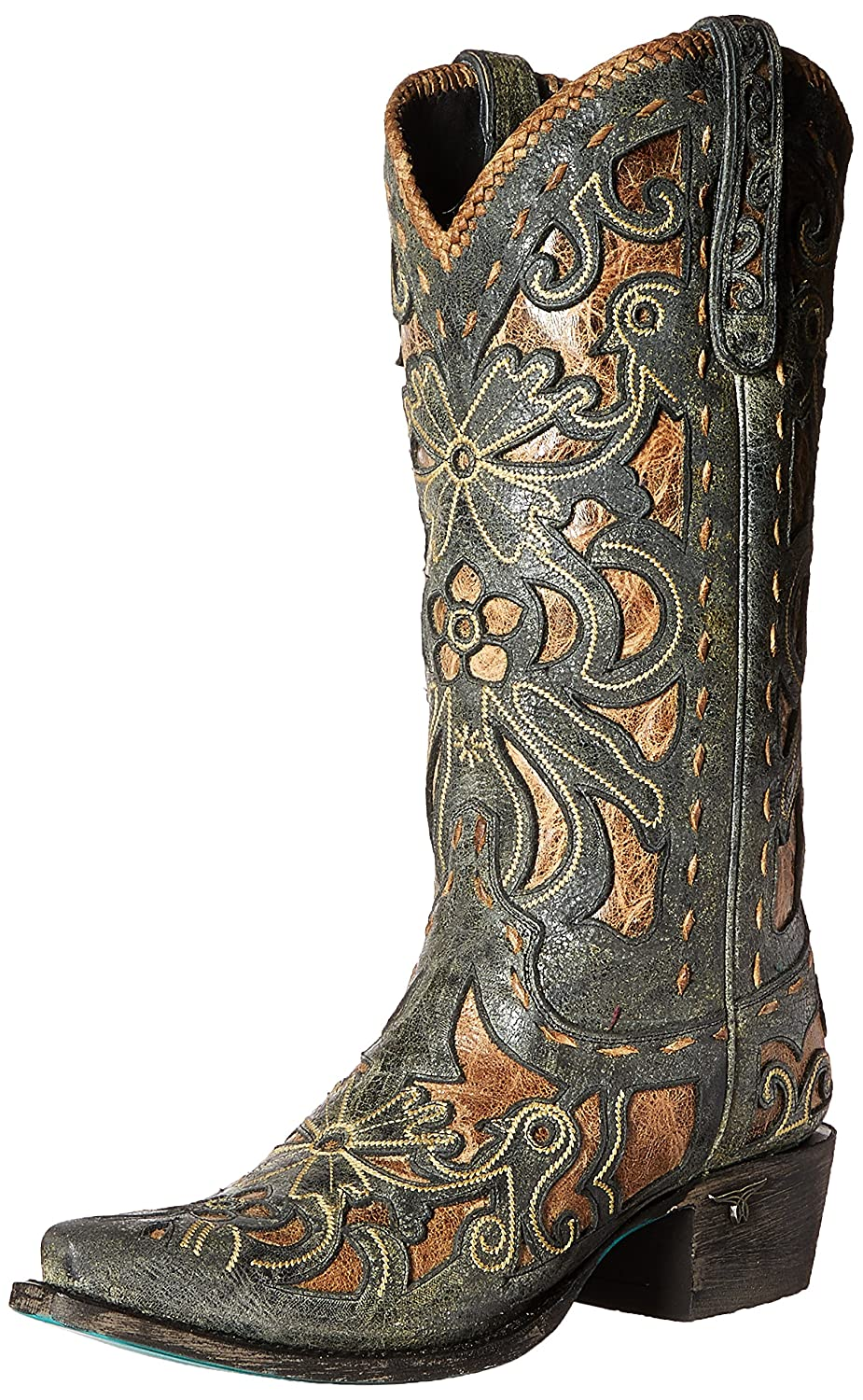 Women's Robin (Black and Tan) Western Boot