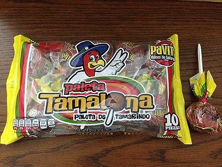 Amazon.com : 1 x Pavito Paleta Tamalona - Pavito Tamarind Big Lollipop 10 Pz Net Wt 900 gr : Grocery & Gourmet Food