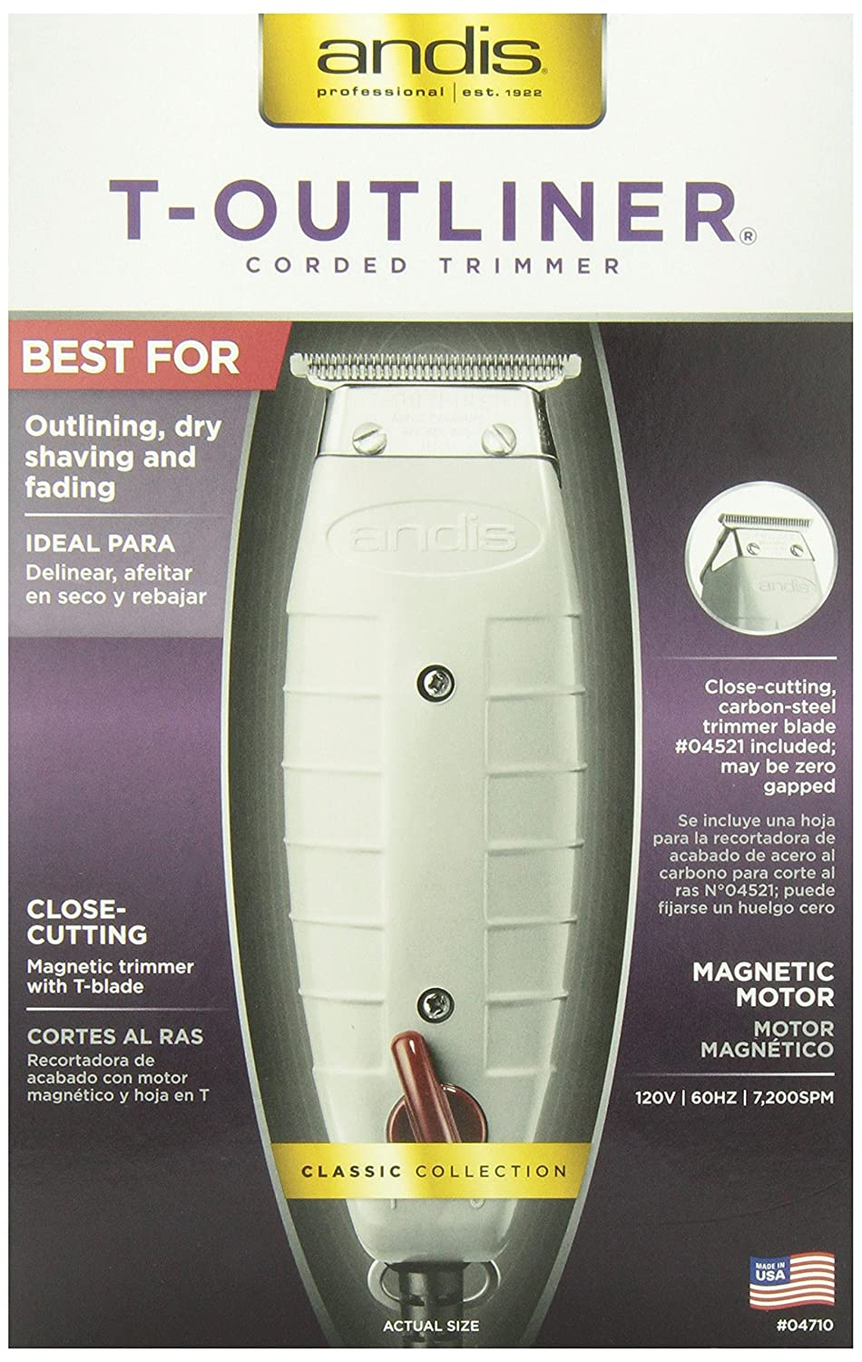 91rXba7SWbL._SL1500_ amazon com andis professional t outliner beard hair trimmer with andis t outliner wiring diagram at panicattacktreatment.co