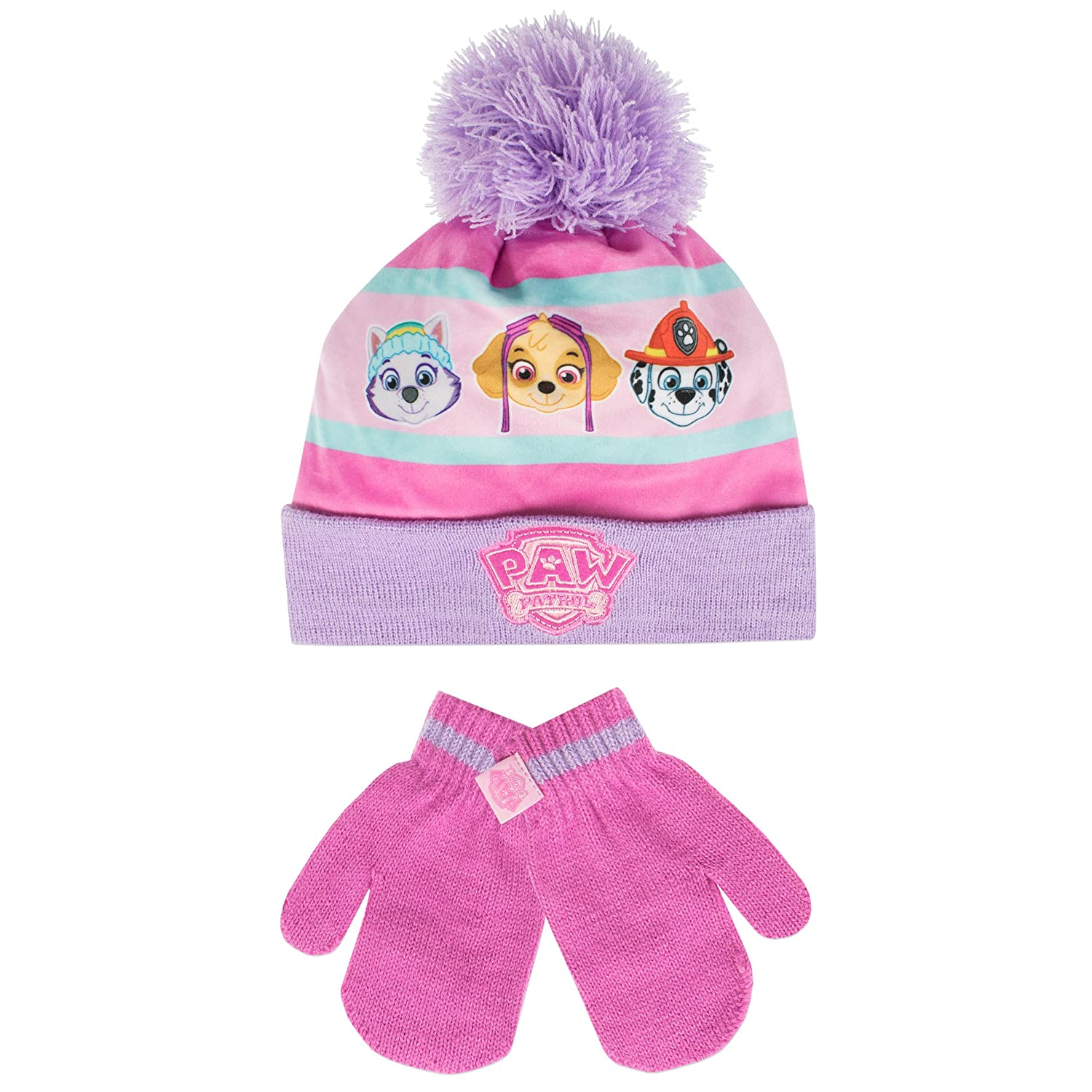 Paw Patrol Girls Paw Patrol Hat and Gloves Set Ages 2 to 8 Years