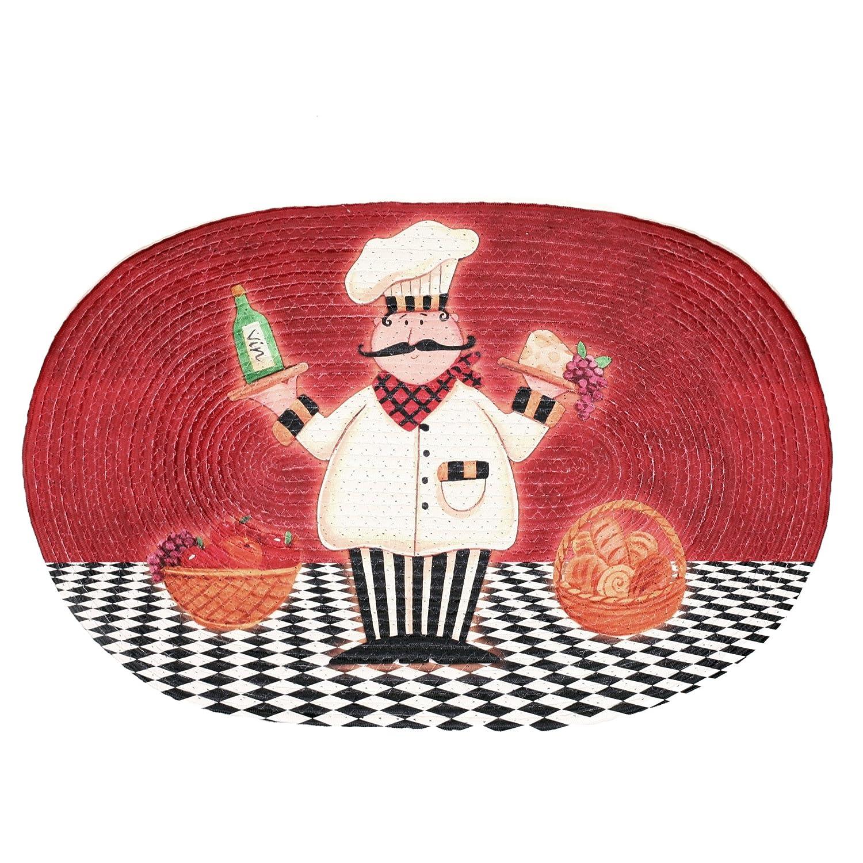 Achim Home Furnishings Braided Rug, 20-Inch by 30-Inch, Chef Achim Importing BRRUGCHF06