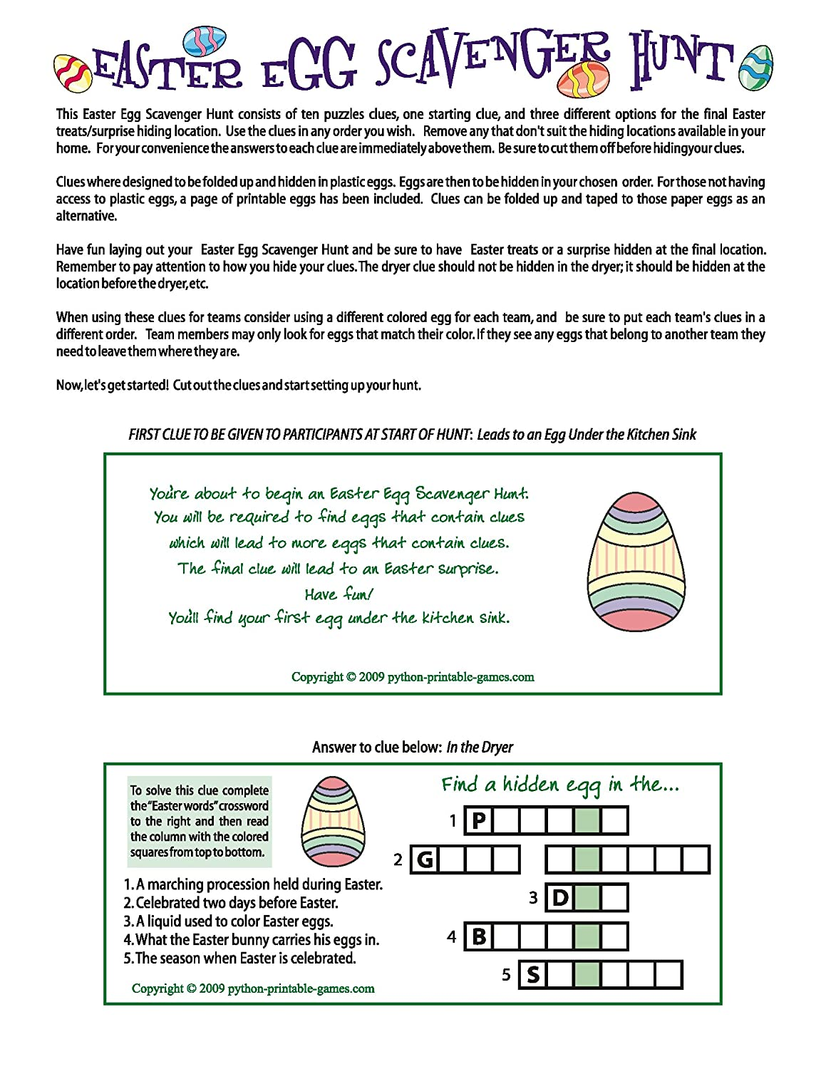 photo relating to Printable Easter Egg Hunt Clues known as Printable Easter Egg Scavenger Hunt Clues Recreation [Obtain]