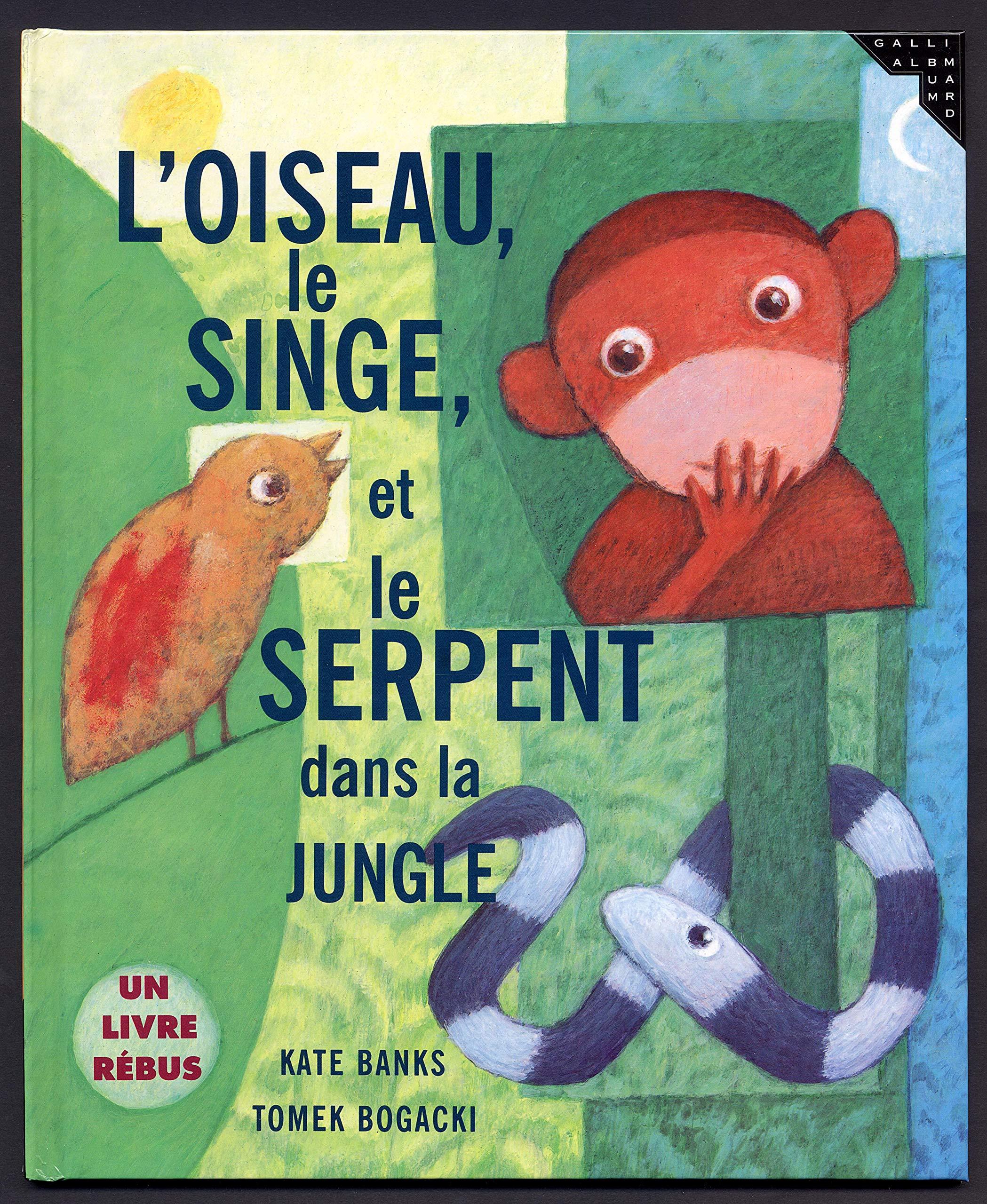 L Oiseau Le Singe Et Le Serpent Dans La Jungle Un Livre