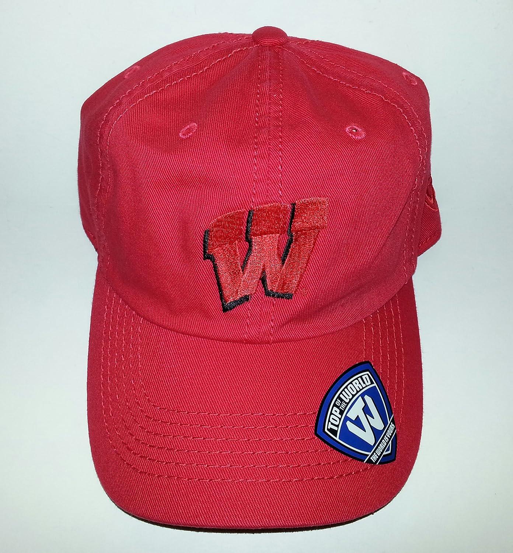 University of Wisconsin Badgers調節可能なバックル帽子刺繍キャップ   B01BOBBX68