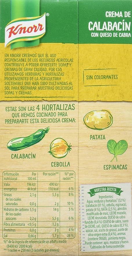 Knorr Las Clásicas Crema de Calabacín con Queso de Cabra ...