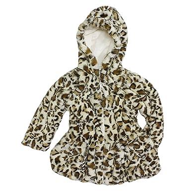 4b0a684a8 Amazon.com  American Widgeon Hooded Faux Fur Plush Coat for Girls ...