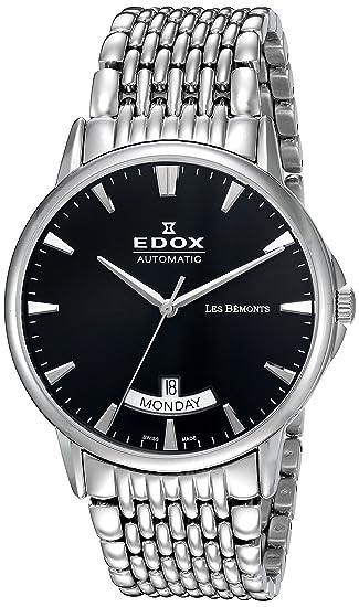 EDOX Reloj Analogico para Hombre de Automático con Correa en Acero Inoxidable 83015-3M-
