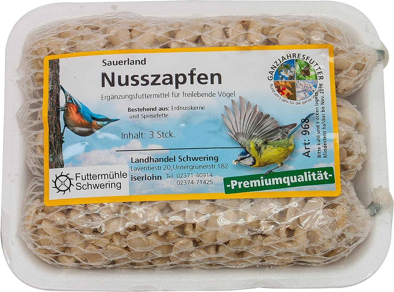 3er Tablett Ornigold Nuss-Zapfen