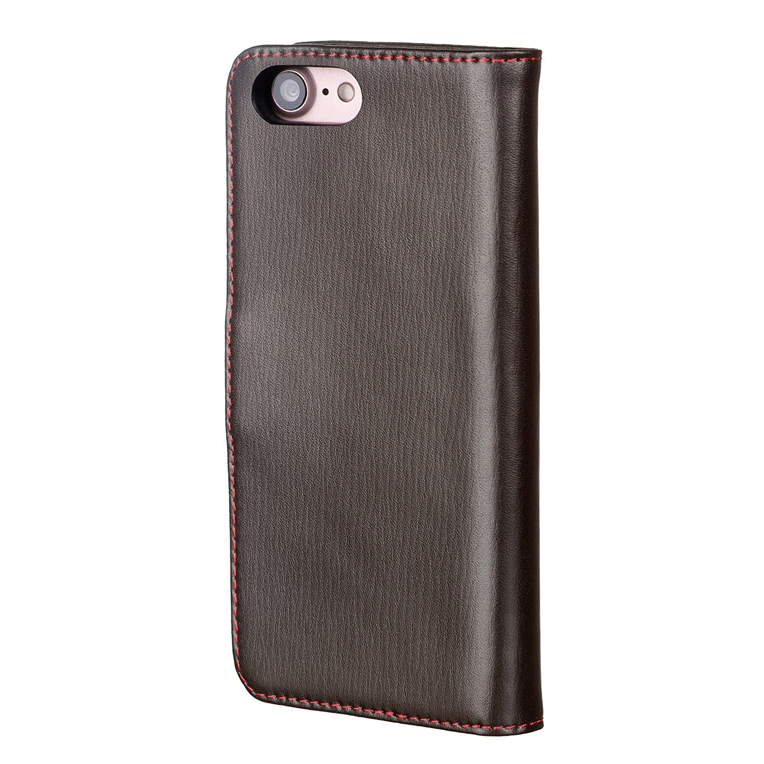 on sale 80d08 ab599 TORRO Genuine Leather Wallet Case Compatible With Apple iPhone 8 And iPhone  7 (Black)