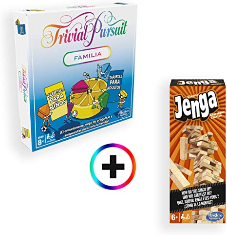 Hasbro Gaming - Trivial Pursuit Familia + Jenga Classic: Amazon.es ...
