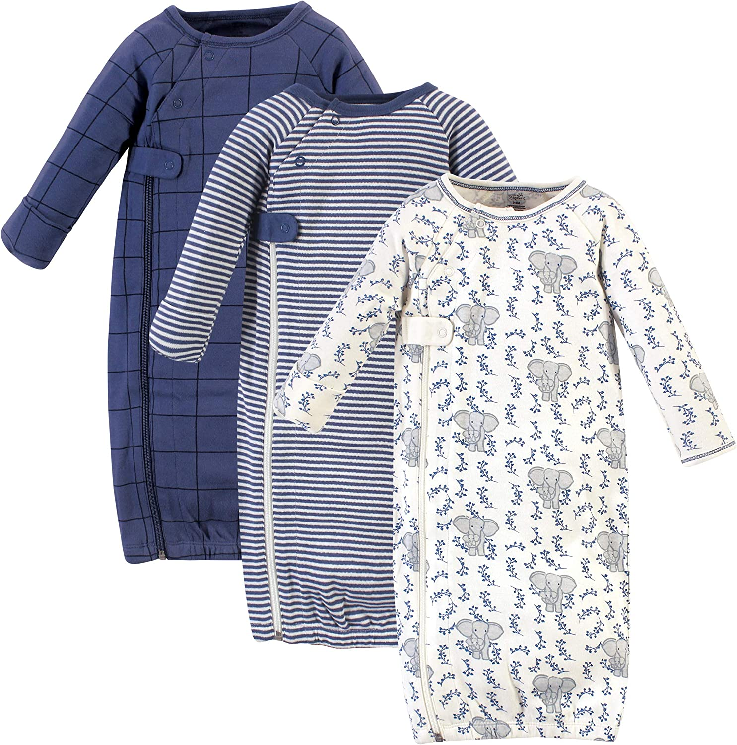Touched by Nature Baby Organic Cotton Zipper Gowns